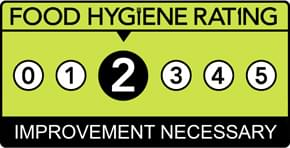 Food hygiene Rating of 2
