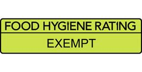 Food hygiene Rating of Exempt