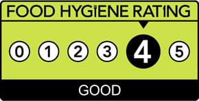 Food hygiene Rating of 4