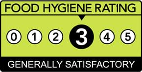 Food hygiene Rating of 3